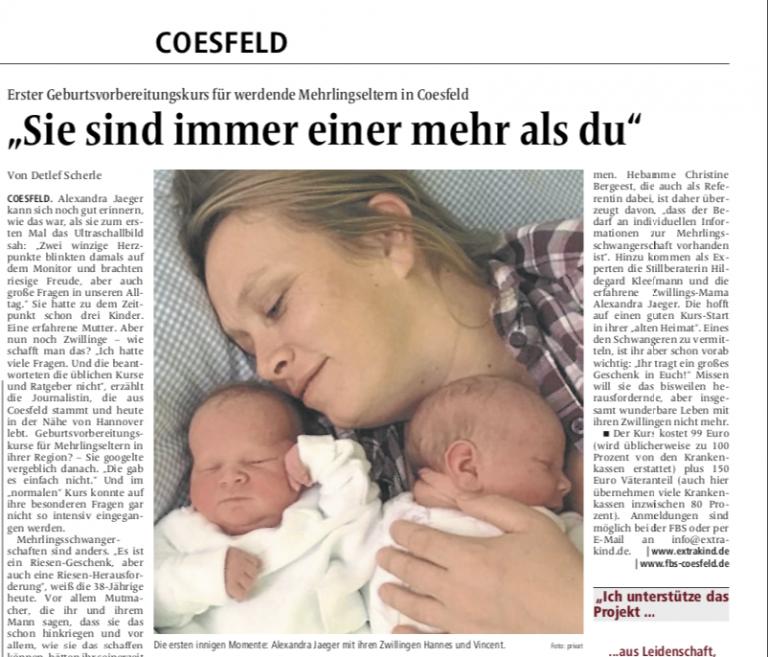 Read more about the article … die Geburt von Zwillingen